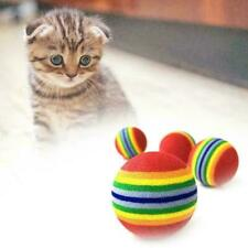 Pet Dog Cat Cute Rainbow Ball Toy Small Dog Cat Eva Toys Sponge Balls Cute E4J0