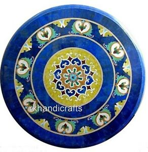 30 Inches Marble Coffee Table Top Royal Art Center table with Pietra Dura Art