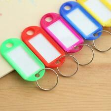 10PCs Colorful Assorted Plastic Keychain Label Tags Keyring