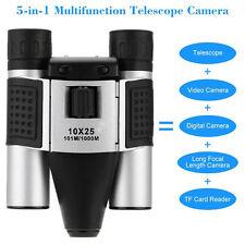 Portable 10x25 Black Binoculars Telescope Video Recording Digital HD 960P Camera