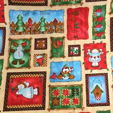 Good Wishes Patchwork Christmas Winter Cotton Fabric Quilting Crafts 2.5 Yards