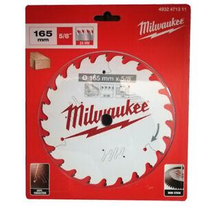 Milwaukee Kreissägeblatt Holz für Handkreissägen 165/15,87mm 24 Zähne für CCS55