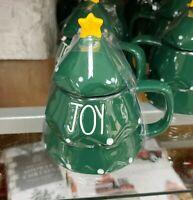 🎄 Rae Dunn Green Joy Tree Mug W/ Star Top New With Tags HTF Rare Christmas