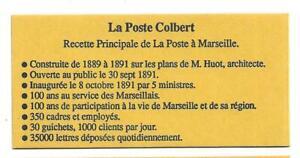 VARIETE CARNET N° 2712-CP 1 10 TIMBRES TYPE MARIANNE M DE MARSEILLAIS SANS TRAIT