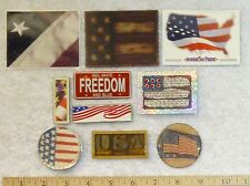 10 American Americana Patriotic Magnets Flag Collector Cards Mini License Plate