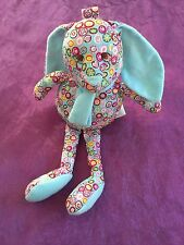 peluche doudou lapin bleu rond multicolore MBS MY BABY SWEET