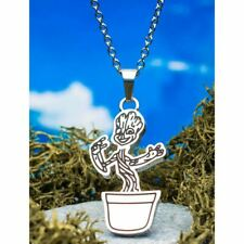 Marvel Guardians of The Galaxy Groot in Plant Pot Pendant Necklace - Boxed Cute
