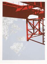 Allan D'Arcangelo 1979 Pop Art graphic architectural signed print serigraph