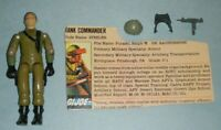 1983 GI Joe Mobat Tank Commander Steeler v1.5 Figure w/ File Card *Complete READ