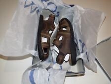 CROFT & BARROW MENS SZ 9 MED LEATHER SANDALS WITH CORE TECHNOLOGY -BROWN- NWT