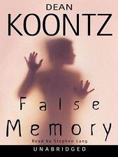Dean KOONTZ / FALSE MEMORY         [ Audiobook ]