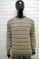 MARLBORO CLASSICS Maglione a Righe Uomo Taglia 2XL Pullover Felpa Cardigan