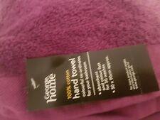Bnwt George Home Purple Hand Towel 50x90cm