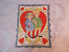Valentine With Boy & Girl Vintage T*
