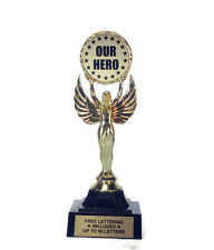 Our Hero Trophy- Recognize- Honor- Admire- Leader- Achievement-  Free Lettering