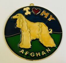 Vintage Stained Glass I Love Heart My Afghan Christmas decoration