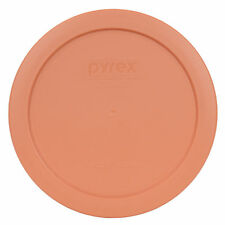 """Pyrex 7201-PC 6"""" Bahama Sunset Orange Plastic Storage Cover Lid for 4 Cup Bowl"""