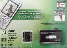 Sony carte mémoire M 2 gb memory stick micro NEUF Ericsson , PSP adaptateur USB