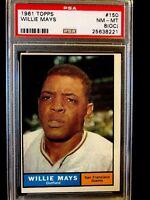 1961 Topps Willie Mays #150 Baseball Card PSA 8 OC NM-MT SF Giants HOF Greatest