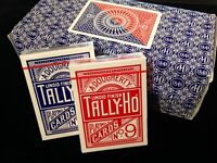 12 x Tally-Ho Circle Back Poker Karten blau/rot Brick Spielkarten
