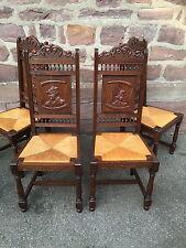 französische Bretonischer 4 prachtvollen figuren design Stühle im Set