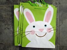 Easter gift bags ebay new lot 6 hallmark large easter gift bags rabbit bunny egg hunt green paper negle Images