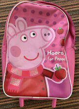 Peppa Pig - school trolley bag- girls trolley wheels