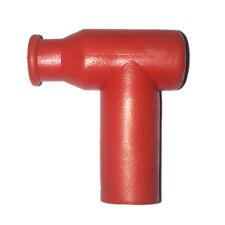1x SPARK PLUG CAP-IMPERMEABILE in gomma-si adatta a morsetto filettato sulla PLUG-rosso