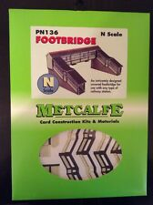 Metcalfe PN136. Footbridge  Die Cut Cardboard Kit. N Scale.