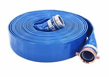 "2"" X 50 FT BLUE PVC WATER DISCHARGE HOSE"