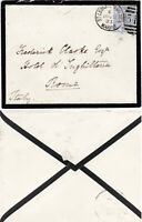 1883 QV ST LEONARDS ON SEA MARINA MOURNING COVER WITH A FINE 2½d BLUE STAMP