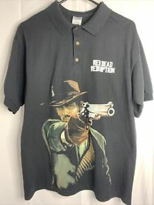 Red Dead Redemption Men's Large Game Stop Promo Polo ShirtEmployee
