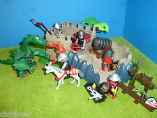 4133 caballero super-set m. dragón verde a ritterburg 3666 3667 014 Playmobil