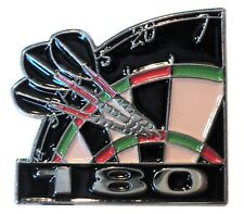 Dart Board & Arrows Dartboard 180 Throw High Score Metal Enamel Pin Badge