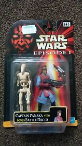 Star wars episode 1 Captain Panaka with bonus battle droid figure