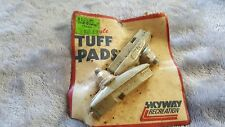 OLD SCHOOL BMX SKYWAY TUFF PADS NIP FROM THE 80s NOT REPRODUCTION FREESTYLE GREY