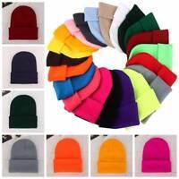 Unisex Knit Beanie Hats Men Women Ski Hip-Hop Caps Winter Warm Couple Hats Gift