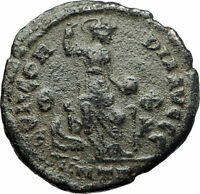 THEODOSIUS I the GREAT379AD Authentic Ancient Roman Coin Constantinopolis i75860