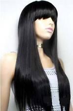 vogue long black straight fashion health hair lady wig wigs for women