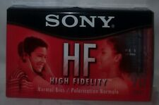 Sony HF High Fidelity Normal Bias 90 Minute Blank Audio Cassette Tape *New