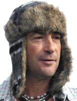 Gris style russe chapeau trapper ushanka - Taille 57cm (Moyen)