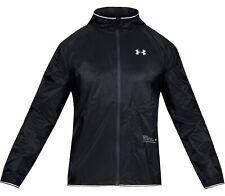 "Under Armour Men's Qualifier Storm Running Jacket Coat UK XL 46""- 48"" - Black"