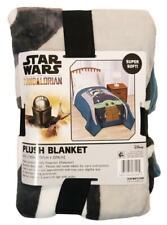 "New Disney Star Wars Mandalorian 62"" x 90"" Plush Throw Blanket"