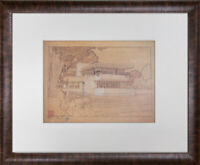 Frank Lloyd WRIGHT Lithograph SIGN Limited Edition Gale House, Oak Park, IL