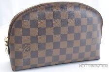 Authentic Louis Vuitton Damier Pochette Cosmetic GM Pouch N23345 LV 33779