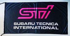 SUBARU FLAG STI BLACK - SIZE 150x75cm (5x2.5 ft) - BRAND NEW