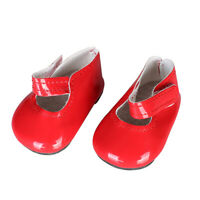 "Dolls Sticky Shoes Flats for 18"" AG American Doll Doll Shoes Clothes Dress red"