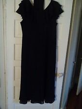 ULTRA DRESS NEW YORK 22W BLACK SHORT SLEEVE SHEER LINED FORMAL DRESS