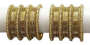 Indian Bollywood Ethnic Fashion Bangle Bracelet Set Women Traditional Jewelry