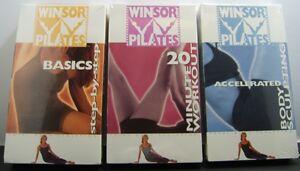 WINSOR PILATES 3 VHS Video Set: Basic, 20 Min. Workout & Accel Body Sculpting